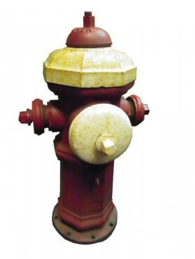 CAST IRON FIRE HYDRANT MARKED: LUDLOW TROY NY 4738