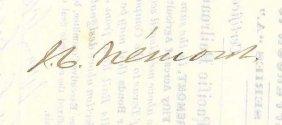 John C. Fremont Signed Stock Certificate.