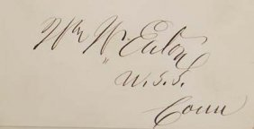 William W Eaton Signature - Politician