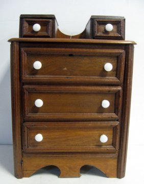 Doll Size Chest Of Drawers. Three Drawers Below And Two