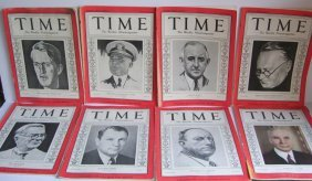 13 1930's Time Weekly Magazines