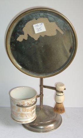 Vintage Shaving Mirror Stand