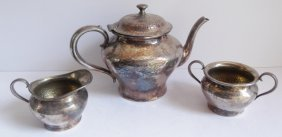 3 Piece Forbes Silver Plate Co. Tea Set