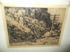 Etching Signed Harry Wickey