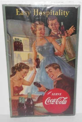 Original 1953 Coca Cola Advertising Poster