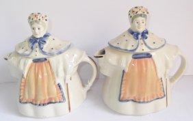 2 Shawnee Granny Ann Teapots