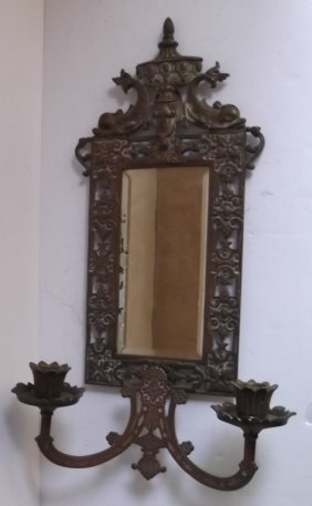 Aesthetic Movement Mirrored Wall Sconce