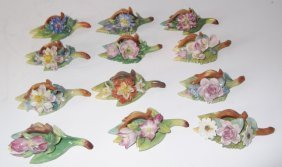 Porcelain Floral Place Card Holders