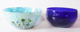 2 Glass Bowls