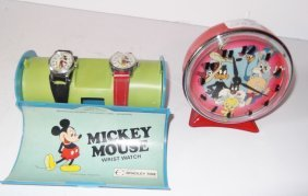 Mickey Mouse Watches/warner Bros. Alarm Clock