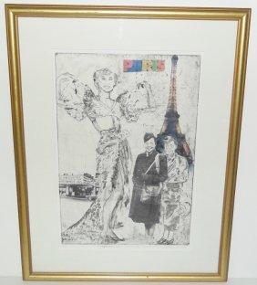 Etching, Aquatint & Silkscreen Of Josephine Baker