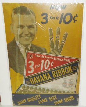 Havana Ribbon Cigar Advertising Poster