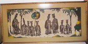 Vintage Framed Batik