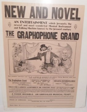 Advertising Poster For The Graphophone Grand