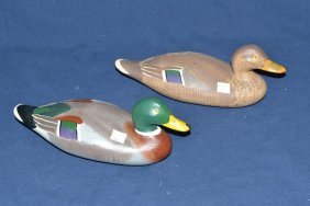 1/4 Size Mallard Pair Signed Ed Sampson