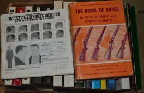 Box Of Gun Related Books And Fbi Wanted Posters Ca.
