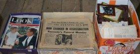 Three Boxes Of Paper Ephemera: Magazines, Newspapers,