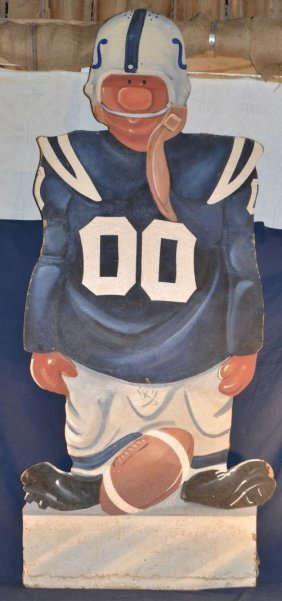 Life Size Standing Baltimore Colts Lineman #00 Made Of