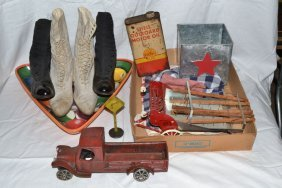 Collection: Vintage Ladies Boots, Cast Iron And Other