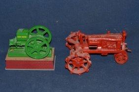 Cast Iron Farmall Tractor And John Deere Motor