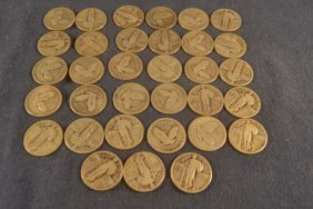 33 Standing Liberty Quarters