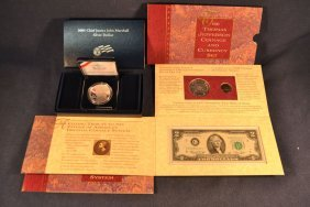 2005 Us Mint Justice Marshall Silver Dollar; Thomas
