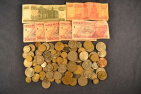 550 Mexican Peso Bank Notes, Assorted Mexican Coins