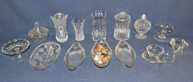 Collection Of Assorted Pattern Glass