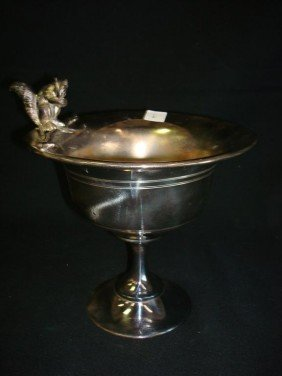 AMERICAN VICTORIAN SILVERPLATE  NUT BOWL