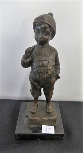 Bronze Figure Signed Schmidt-felling