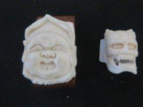 Carved Ivory Netsukes (2)
