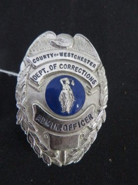 Corrections Badge. Westchester County