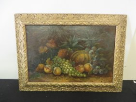 Oil. Still Life With Fruit. Signed Wilson