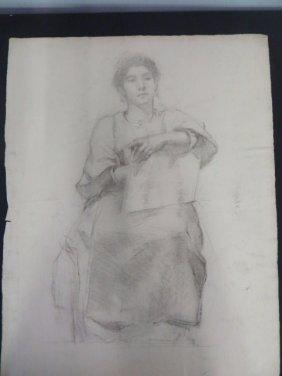 Study Of A Female In Costume