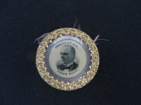 Political Button Mckinley 1896
