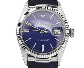 *Rolex Oyster Perpetual DateJust 1601 Blue Dial Black