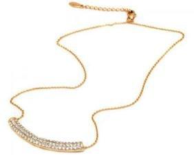 Sevil Designs Gold And Swarovski Elements Curve