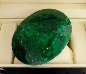 APP: 475.3k 2,541.50CT Oval Cut Emerald Gemstone