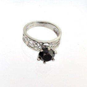 APP: 4k 3k Diamond & Sterling Silver Ring