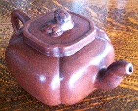 Asian Terra Cotta Tea Pot