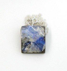 APP: 11.2k Boulder Opal & Sterling Silver Necklace