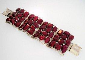 APP: 52.3k 361.39CT Ruby & Sterling Silver Bracelet