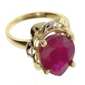 APP: 10.5k 14 Kt. Yellow & White Gold, 6.85CT Ruby Ring