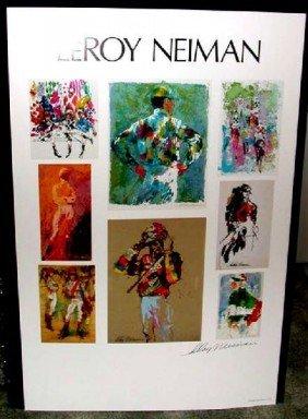 Hand Signed LeRoy Neiman: Jockeys