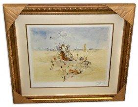 Salvador Dali 'Cosmic Horseman' Museum Framed & Matted