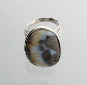 APP: 9.3k 28.47CT Boulder Opal & Sterling Silver Ring