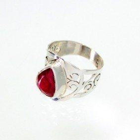 APP: 3.5k 2.86CT Ruby & Sterling Silver Ring