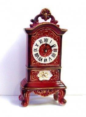 Pink Porcelain Clock