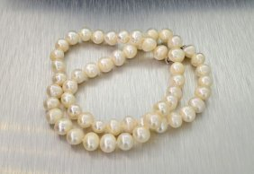 APP: 1.5k 18'' Pearl Strand W/Sterling Silver Clasp