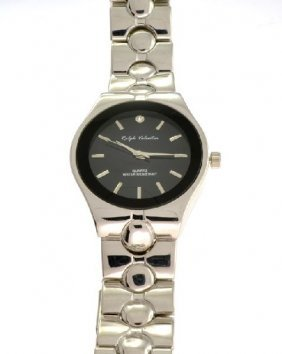 Ralph Valentin (Black & Silver Color) Men's Watch.